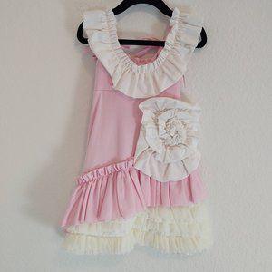 Pixie Girl Chasing Fireflies 2T Dress Ruffles Pink